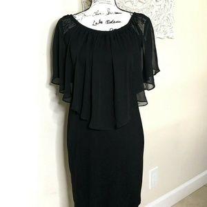 Thalia Sodi Black Dress Wear 3 Ways Size XS